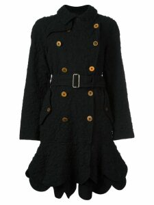 COMME DES GARÇONS PRE-OWNED double breasted coat - Black