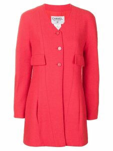 Chanel Pre-Owned V-neck jacket - Red