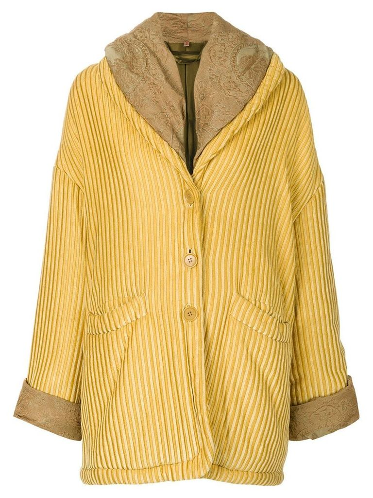 Romeo Gigli Vintage oversize textured coat - Yellow
