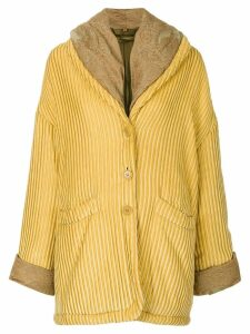 ROMEO GIGLI PRE-OWNED oversize textured coat - Yellow
