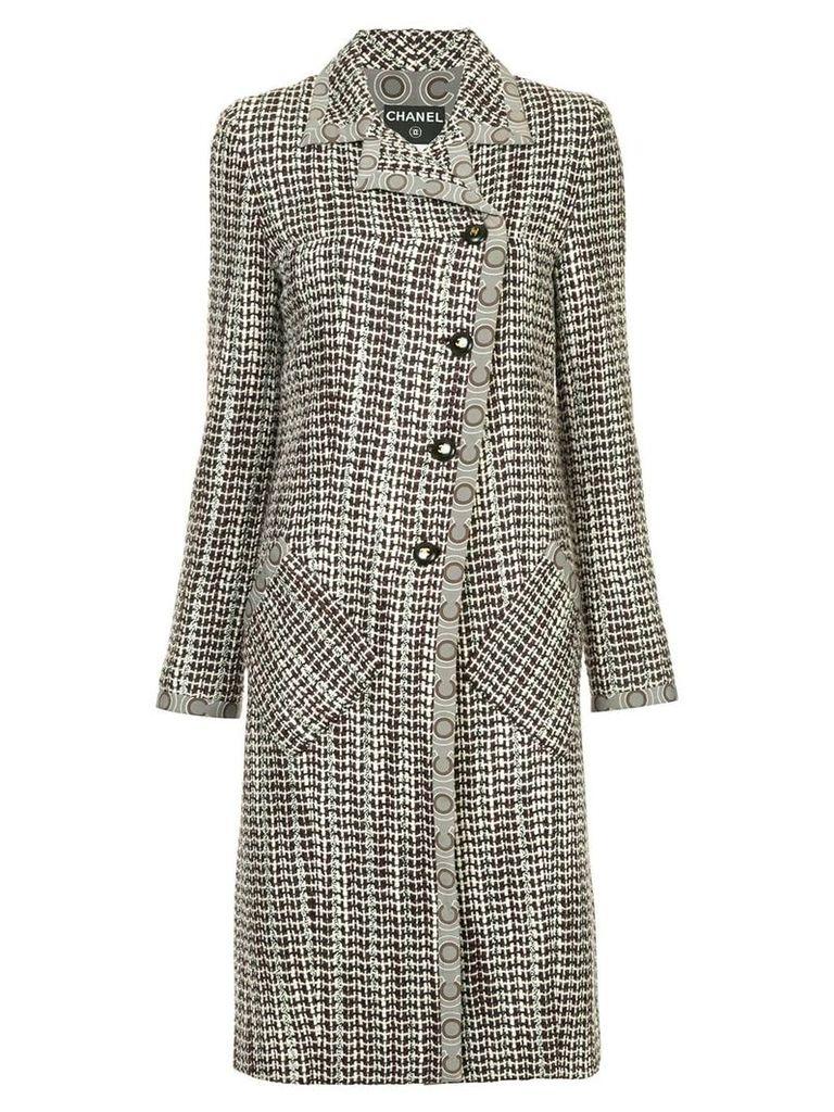 Chanel Pre-Owned tweed midi coat - Brown