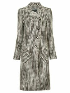 Chanel Pre-Owned tweed midi coat - Brown