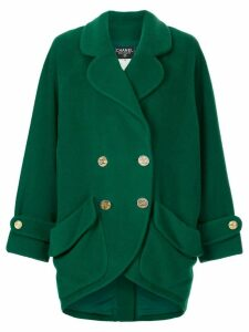 Chanel Pre-Owned oversized double-breasted coat - Green