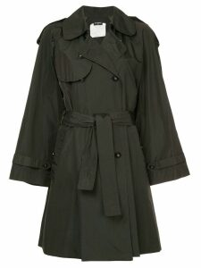 Chanel Pre-Owned belted midi trench coat - Black