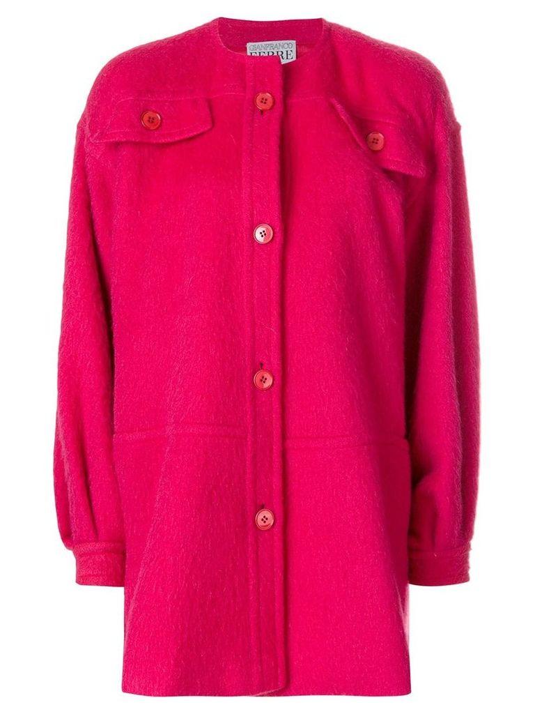 Gianfranco Ferre Vintage collarless shift coat - Pink