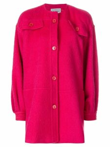Gianfranco Ferre Pre-Owned collarless shift coat - Pink