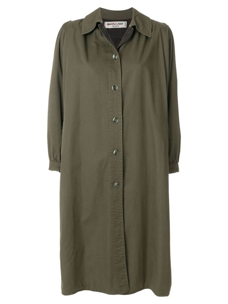 Yves Saint Laurent Vintage gabardine coat - Green