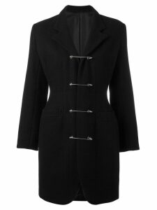 Jean Paul Gaultier Pre-Owned safety pin coat - Black