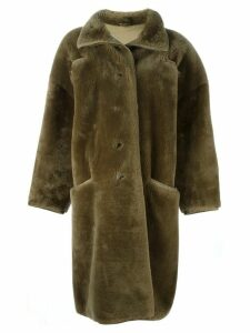 Versace Pre-Owned oversized faux fur coat - Brown