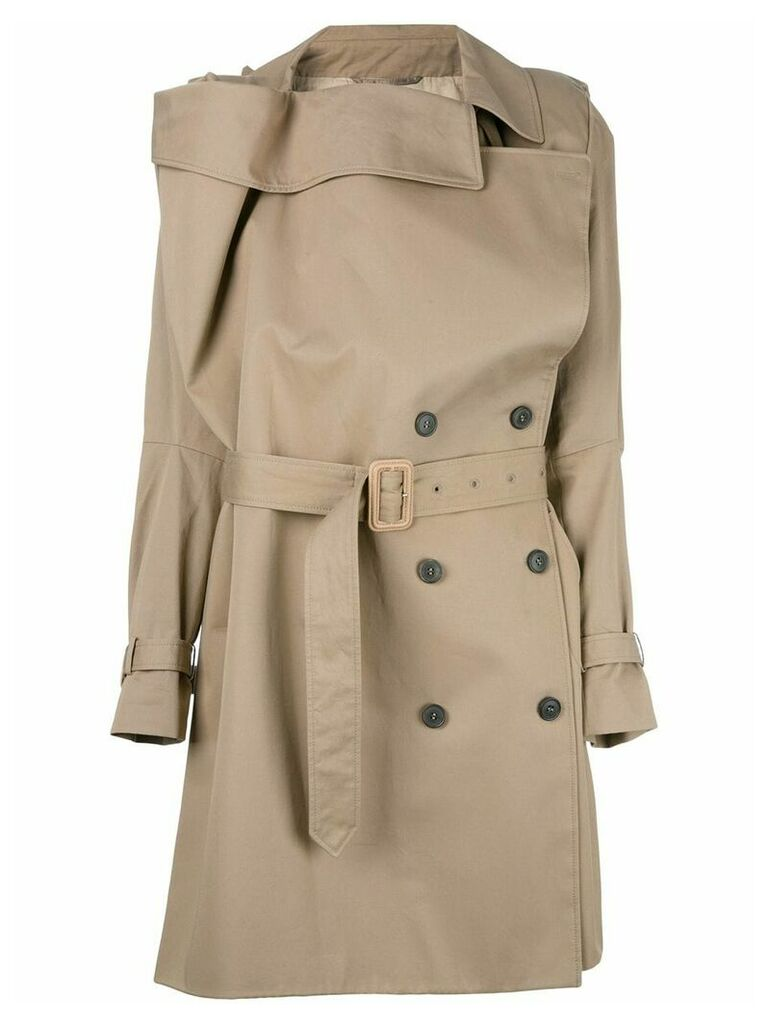 Maison Martin Margiela Pre-Owned deconstucted trench coat - Brown