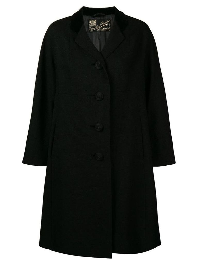 William Vintage 1965 flared midi coat - Black