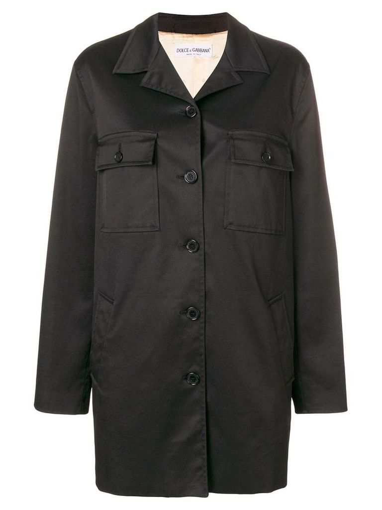 Dolce & Gabbana Vintage single breasted coat - Black