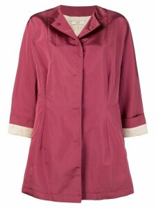 Prada Pre-Owned oversized collarless coat - Pink