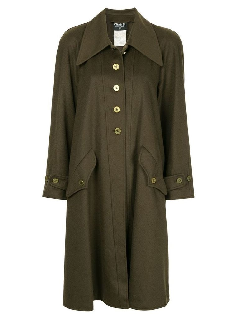 Chanel Vintage cashmere midi coat - Green