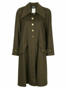 Chanel Pre-Owned cashmere midi coat - Green