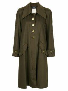 Chanel Pre-Owned cashmere midi coat - Green