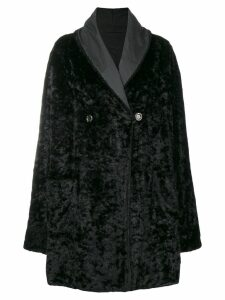 FENDI PRE-OWNED fur effect boxy coat - Black