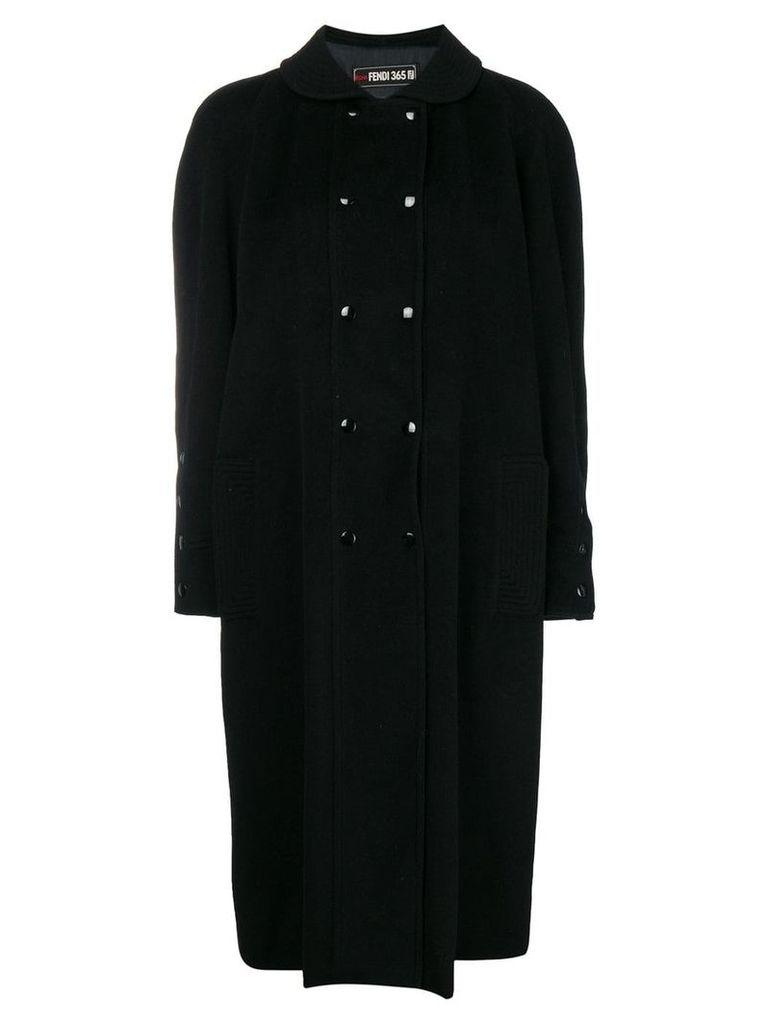 Fendi Vintage peter pan collar coat - Black
