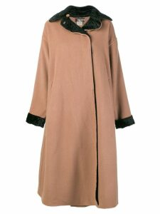 Fendi Pre-Owned boxy long coat - Brown