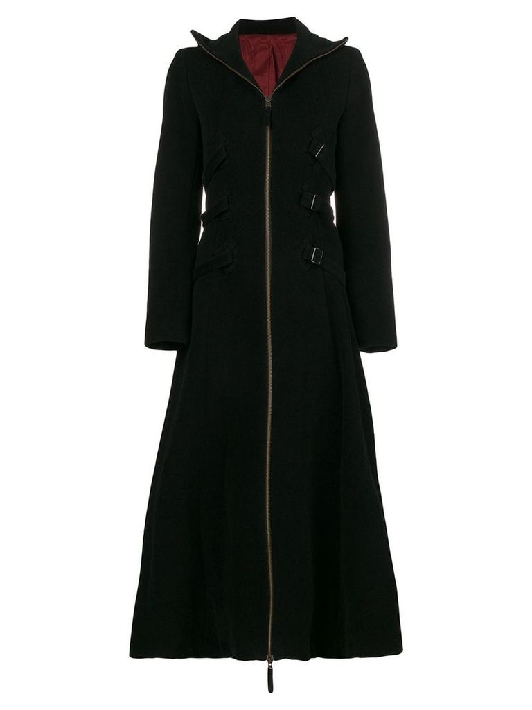 Jean Paul Gaultier Vintage strappy long coat - Black