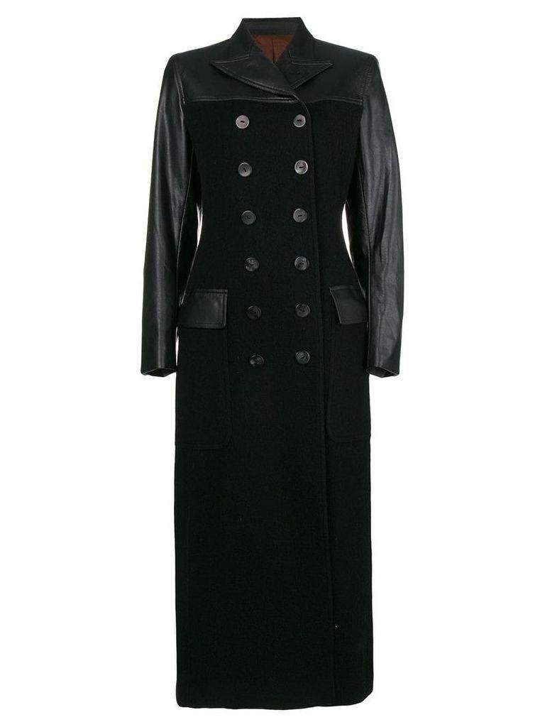 Jean Paul Gaultier Vintage faux leather long coat - Black