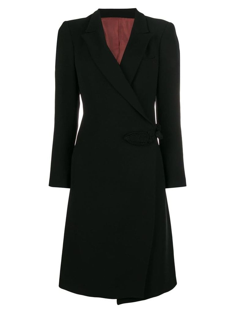 Jean Paul Gaultier Pre-Owned wrap midi coat - Black