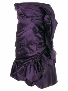 Christian Lacroix Pre-Owned draped strapless cocktail dress - PURPLE