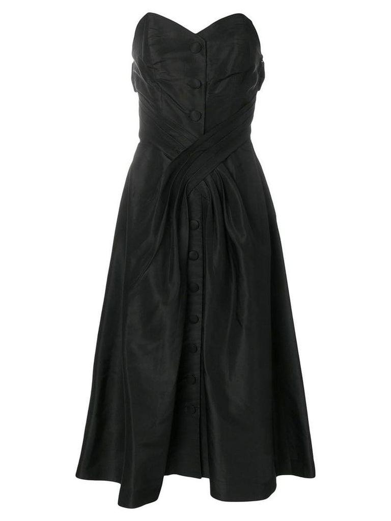 Christian Dior Vintage 1956 strapless midi dress - Black