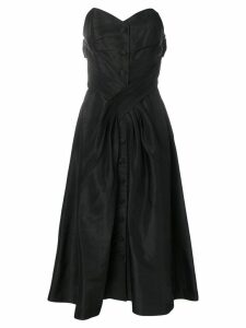 Christian Dior Pre-Owned 1956 strapless midi dress - Black