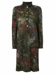 A.N.G.E.L.O. Vintage Cult animal print buttoned dress - Multicolour