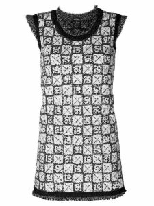 Chanel Pre-Owned sequinned knitted dress - Grey