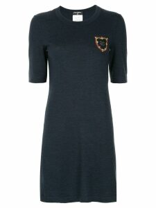 Chanel Pre-Owned silhouette fitted short dress - Blue