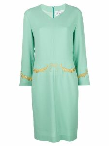 Gianfranco Ferre Pre-Owned embroidered dress - Green