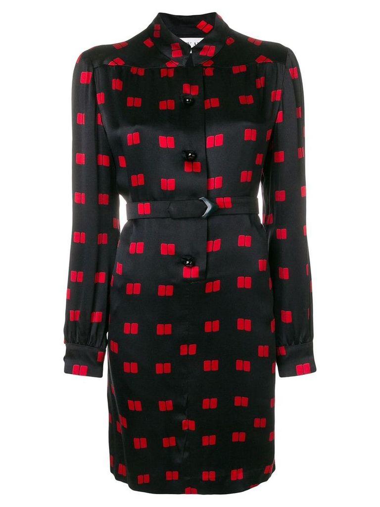 A.N.G.E.L.O. Vintage Cult geometric print longsleeved dress - Black