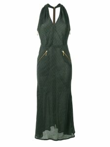 JEAN PAUL GAULTIER PRE-OWNED pinstriped halterneck dress - Green