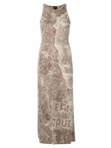 Jean Paul Gaultier Pre-Owned optical printed long dress - NEUTRALS