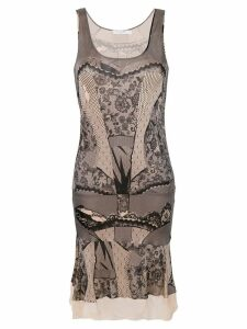 Christian Dior Pre-Owned lace print sleeveless dress - Pink