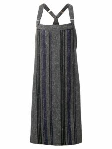 Yohji Yamamoto Pre-Owned strapped long dress - Grey