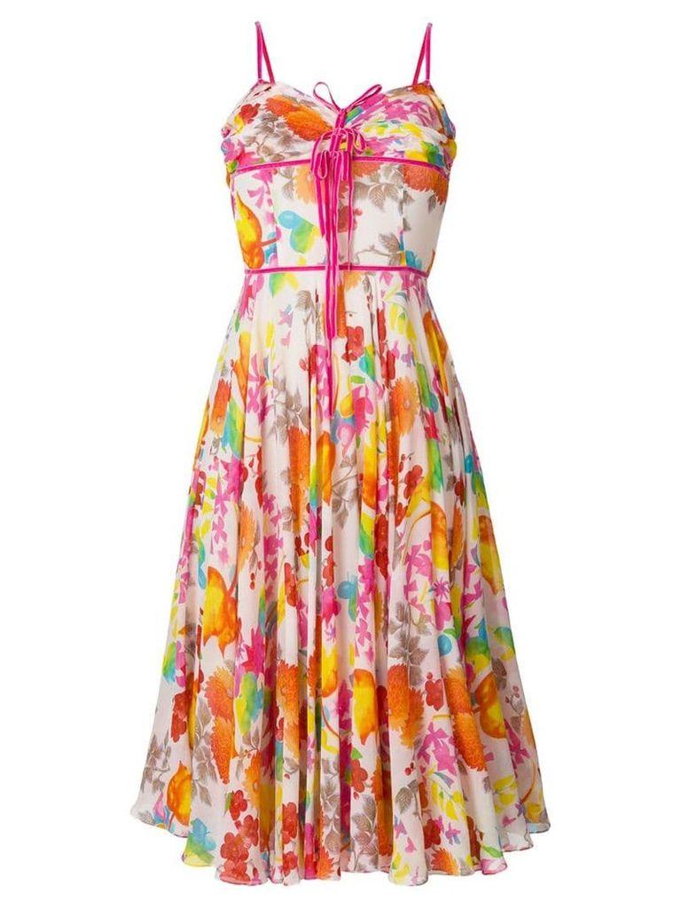 Christian Dior Pre-Owned floral midi dress - Multicolour