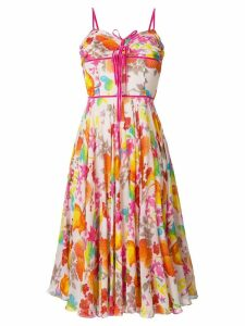 Christian Dior Pre-Owned floral midi dress - Multicolour