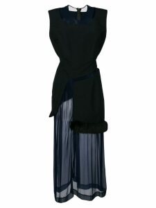 Comme Des Garçons Pre-Owned 1997 layered sheer dress - Blue