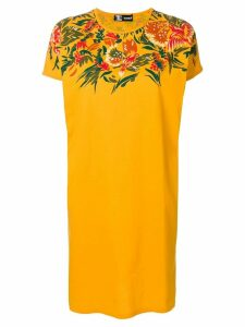 Kansai Yamamoto Pre-Owned flower design T-shirt dress - Orange