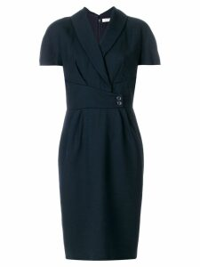 Christian Dior Pre-Owned belted shortsleeved dress - Blue