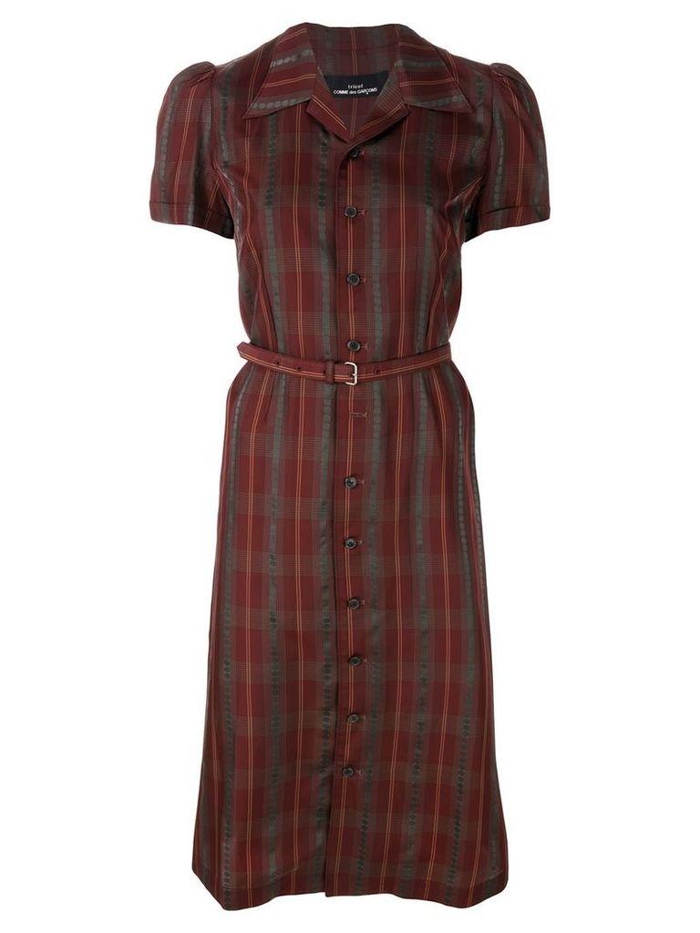 Comme Des Garçons Vintage 1995 shirt dress - Red