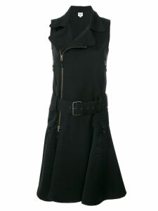 Jean Paul Gaultier Pre-Owned sleeveless belted biker dress - Black