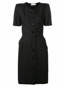Nina Ricci Pre-Owned button up vintage dress - Black