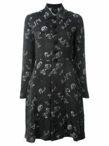 JEAN PAUL GAULTIER PRE-OWNED jacquard shirt dress - Black