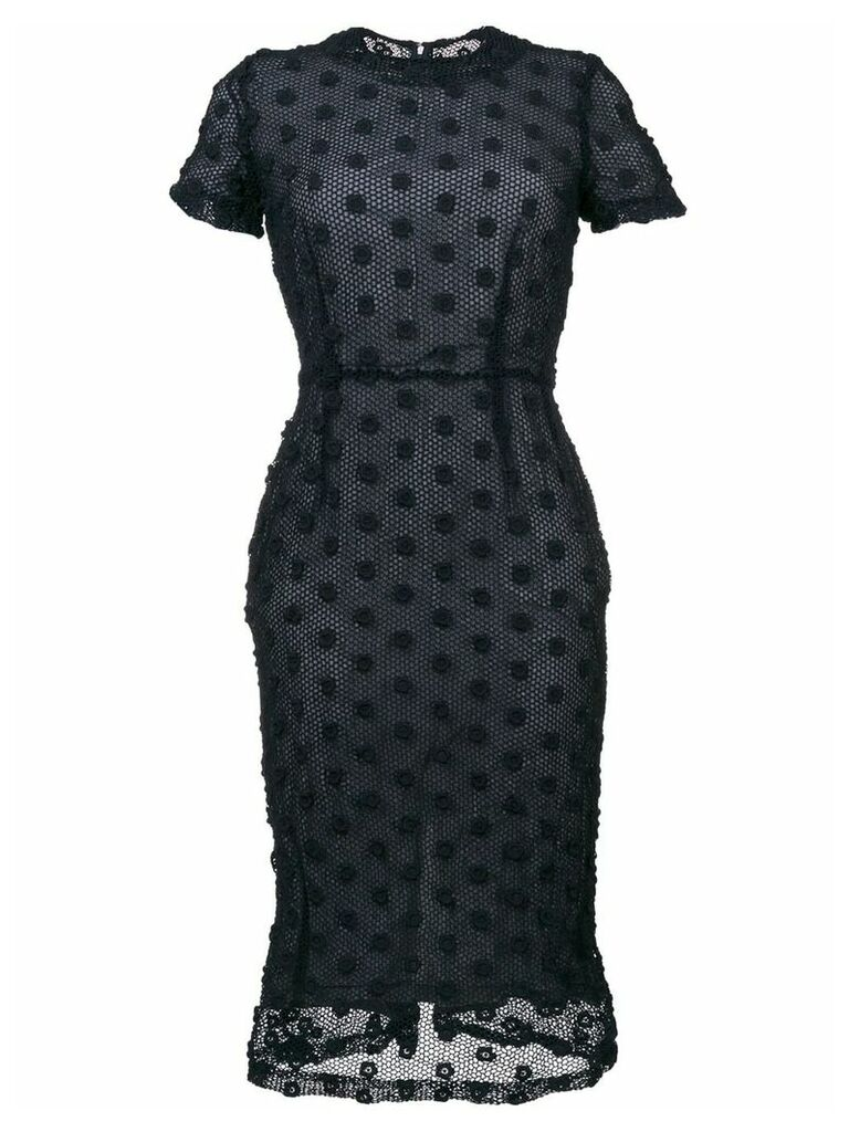 Comme Des Garçons Vintage short sleeve crochet dress - Blue