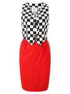 MOSCHINO PRE-OWNED sleeveless waistcoat dress - Black