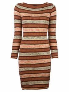 Jean Paul Gaultier Pre-Owned fair isle knitted dress - Brown
